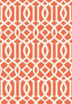 Schumacher's iconic modern hand printed wallcovering is now available in an expanded range of colorations. These new wallcoverings coordinate with the linen print of the same name, in graphic shades of navy, orange and deep brown, and a soft and classic shade of tan.   Imperial Trellis II Wallcovering in Ivory / Mandarin, 5005800.   http://www.fschumacher.com/search/ProductDetail.aspx?sku=5005800
