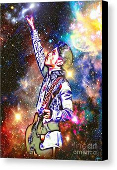 Prince In Heaven Canvas Print featuring the mixed media Prince In Heaven by Daniel Janda
