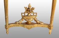 Console demi-lune en bois doré époque Louis XVI, Galerie Tramway, Proantic