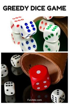 Greedy Dice Game - Learn Greedy Dice Games at Fun Attic. We have all the DIY game ideas and icebreakers you need for a fun kids party activity. Family Fun Games, Family Game Night, Games For Kids, Games To Play, Fun Group Games, Learning Games, Dice Games, Activity Games, Gambling Games