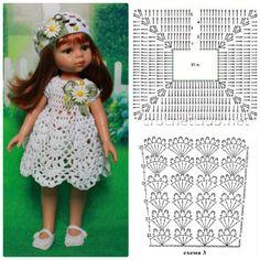 Best 12 33 Ideas for crochet doll dress barbie patterns – SkillOfKing. Crochet Doll Dress, Crochet Barbie Clothes, Baby Doll Clothes, Knitted Dolls, Baby Dolls, Dress Clothes, Crochet Poncho, Doll Dress Patterns, Barbie Patterns