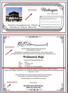 Download Contoh Undangan Berangkat Naik Haji Dengan Microsoft Word