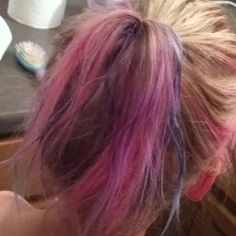 Chalk hair coloring!