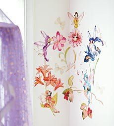 12-Piece Fairies and Flowers Repositionable Wall Stickers Set by Brewster Home. $29.98. Fairy, butterfly, and flower motifs. Includes 12 stickers. Repositionable. Fairies and flowers wall stickers. Perfect for bedroom or playroom decoration. Grow a fairy garden on your little one' s bedroom or playroom wall with these repositionable stickers. The 12-piece set includes friendly fairies, beautiful butterflies, and fantastical flowers.