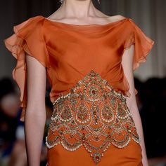 Marchesa - Spring 2013  Gorgeous bead embroidery!