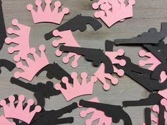 GUNS OR GLITTER - Gender reveal baby shower Confetti