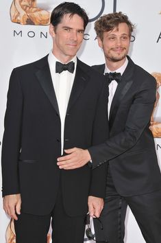 Matthew Gray Gubler Thomas Gibson (L) and Matthew Gray Gubler (R) arrive to attend the closing ceremony of the 51st Monte Carlo TV Festival at the Grimaldi forum on June 10, 2011 in Monaco, Monaco.
