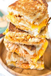 Buffalo Chicken Grilled Cheese Sandwiches