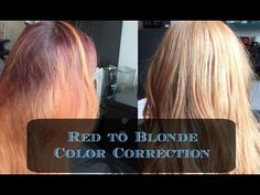 Red To Blonde Hair Color Correction Amber Mancha Salon