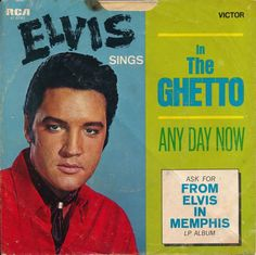 ELVIS PRESLEY In The Ghetto • Any Day Now 47-9741 | 45 rpm RECORD SLEEVE ONLY