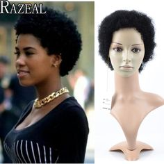 Razeal Cheap Afro Kinky Curly Perruque Short Synthetic Wig African American Short Wigs For Black Women Curl Female Wig Cosplay -  http://mixre.com/razeal-cheap-afro-kinky-curly-perruque-short-synthetic-wig-african-american-short-wigs-for-black-women-curl-female-wig-cosplay/  #Wigs
