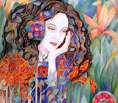 Helena Nelson-Reed Helena Nelson-Reed is an American art. Art And Illustration, Shabbat Shalom Images, Vanitas Vanitatum, Bright Pictures, Watercolor Techniques, Face Art, American Art, My Images, Watercolor Art