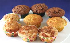 basic muffins with extra ingredients