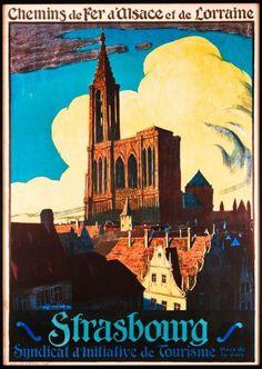 FRANCE - Strasbourg, René Allenbach Cathédrale de Strasbourg #Vintage #Travel