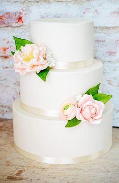 2 Tier Wedding Cakes, Blush Wedding Cakes, Small Wedding Cakes, Diy Wedding Cake, Wedding Cake Roses, Wedding Cakes With Flowers, Wedding Cake Toppers, Wedding Ideas, Peony Cake