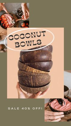 Coconut Bowl, Coconut Shell, Smoothie Bowl, Delicious Desserts, Dinnerware, Spoon, Eco Friendly, Hippie Man, Homemade