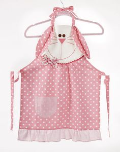 Little Girls - Childrens Apron in Bunny