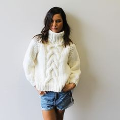 Cropped cable knit - i love mr mittens