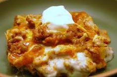 Creamy burrito casserole--easy and delicious!