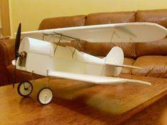 Old-style wheels for foamboard planes.
