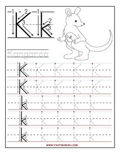 printable letter k tracing worksheets for preschool - Preschool Tracing Pages