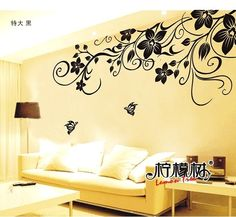 STRETCH FLOWER  Wall Decal Quote Modern Home Decor Sticker