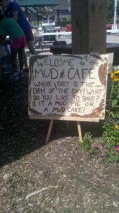 edible school yard mud cafe For mud day Fun for curiosity! get the children thinking and inquiring !!