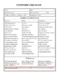 Free templates for house cleaning checklist the business checklist custom house cleaning business forms to increase profits and grow a residential cleaning business accmission Images