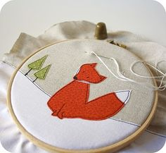 cute idea!.  Pretty much put anything in an embroidery hoop and its gonna work...