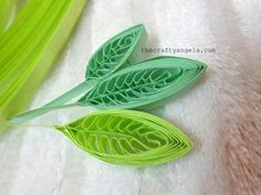 quilling leaves tutorial using a comb