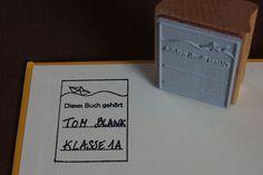 Bild: Stempel - Dieses Buch gehört... Papierschiff