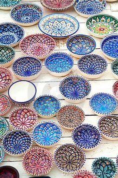 Tunisian plates by Kamila Panasiuk, via Dreamstime