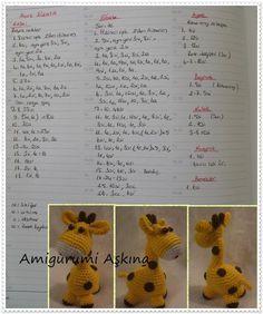 Diy Crafts - Mesmerizing Crochet an Amigurumi Rabbit Ideas. Lovely Crochet an Amigurumi Rabbit Ideas. Amigurumi Giraffe, Mini Amigurumi, Crochet Patterns Amigurumi, Amigurumi Doll, Crochet Dolls, Crochet Gratis, Diy Crochet, Crochet Baby, Yarn Animals