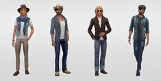 Netz-à-porter – outfits ready to wear for your sims (no CC required) - Page 4 Sims 4 Characters, Sims Four, Sims 4 Cas, Sims 4 Clothing, Mix Match, Harem Pants, Ready To Wear, Bride, Model