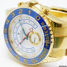 Rolex 18k Yellow Gold Yachtmaster II Ceramic ~ 116688
