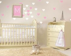 Mini Hearts Wall Stickers , Little Hearts Wall Decals Removable Art Mural home decoration Nursery Decor Free Shipping