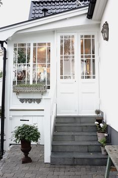 S c a n d i n a v i a n . S t y l e. Can I get a slim French door into my current standard back door?
