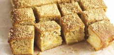 Cinnamon and bramley apple tray-bake