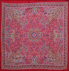 Paisley Star - Red - Small Tapestry