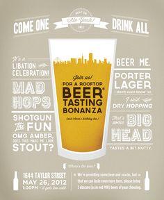 Beer Tasting Printable | Beer-Tasting Birthday Bonanza