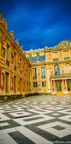 The Marble Court of the Palace of Versailles (Château de Versailles), France - architecture