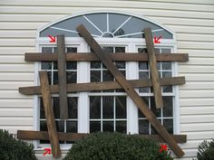 Foam Boarded-Up Windows. Great how-to tutorial to make your house look really spooky this Halloween
