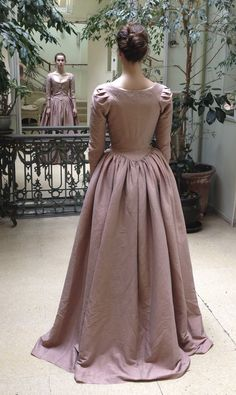 Elizabeth (Heida Reed) engagement party dress costume fitting. Dress made from washed silk. Courtesy of Marianne Agertoft/Mammoth Screen. | Poldark, as seen on Masterpiece PBS