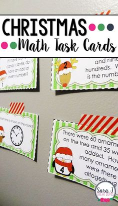 Fun ideas for teaching math and literacy in the elementary classroom in December. Teaching Plan, Teaching First Grade, 2nd Grade Math, Teaching Math, Second Grade, Kindergarten Math, Teaching Ideas, Math For Kids, Fun Math