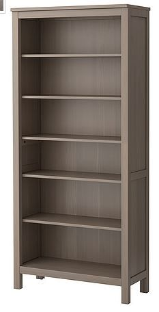 Ikea bookcase - Maybe white, art framed on top w/ a chair on each side Refurbished Furniture, Home Furniture, Ikea Hemnes Bookcase, Baby Glider, Home Staging, Brown And Grey, Keep It Cleaner, New Homes, Chalk Painting