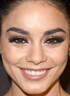Close-up of Vanessa Hudgens at the 2016 InStyle & Warner Bros. Golden Globes After-Party. http://beautyeditor.ca/2016/01/15/golden-globes-after-parties-2016