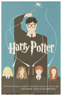 I bought this for my son's room.   HARRY POTTER Original Poster Design by guiltycubicle on Etsy, $15.00