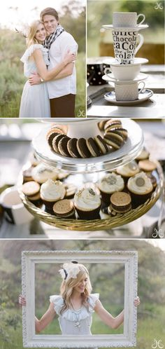 I like the cups (could be tea cups?) and frame idea