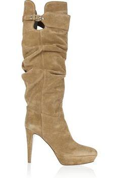 Veronica Suede Knee Boots