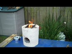 "The ""6 Block"" Rocket Stove! DIY - ""DUAL BURNER"" Rocket Stove! (Concrete Block Rocket Stove) DIY - YouTube"
